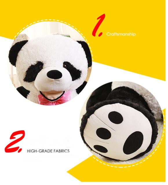 Panda XXL XXXL Riesen Plüsch-Pandabär Plüschtier Teddy Bär Schwarz Weiss Schwarzweiss Weissschwarz 260cm Geschenk Kind Kinder Frau Freundin Valentinstag