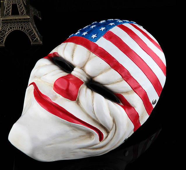 Payday 2 Dallas Bankräuber Maske Kostüm Zubehör Clown Maske