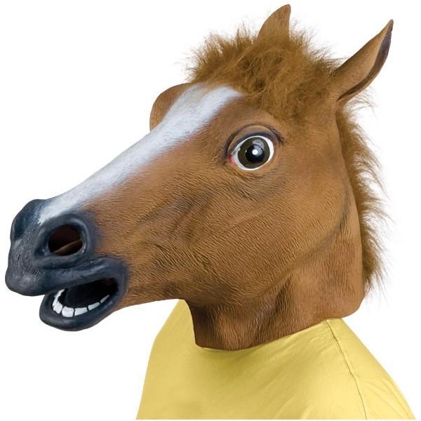 Pferdemaske Pferdekopf Maske Fasnacht Party Latex Lustig Gag Fasnacht Kostüm