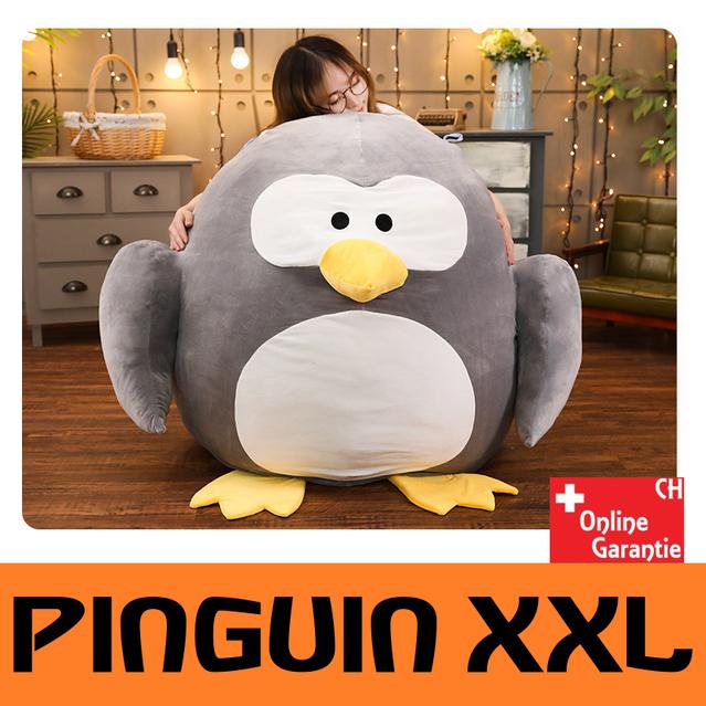 Pinguin Plüsch XXL Plüschtier Kuscheltier Geschenk Kind Frau Weihnachten 100x110cm Grau Süss Herzig Schweiz