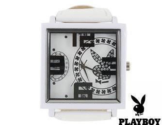 Playboy Frauen Damen Uhr Armbanduhr Weiss Geschenk Fan Frau Freundin Sexy