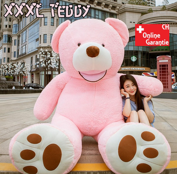 Plüsch Bär Teddybär Plüschteddy Plüschbär XXL Plüschtier Teddy 260cm XXXL Pink Geschenk Kind Frau Freundin verliebte