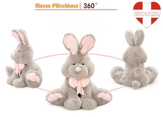 Plüsch Hase Plüschhase Plüschtier Kaninchen Bunny Hasi Geschenk Gross Kinder Freundin 120cm XXL / Neu