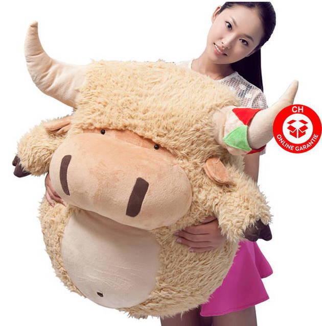 Plüsch Kuh Rund Plüschkuh Geschenk Kinder Freundin Süss 80cm