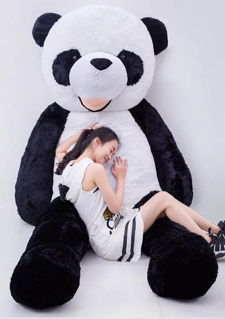 Plüsch Panda Pandabär riesig 2 Meter gross Kuscheltier Plüschtier XXL Stofftier Bär Geschenk
