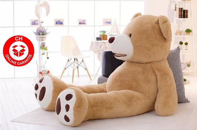 Plüsch Teddy Teddybär Plüschbär 2m XXL 200cm Top Geschenk Frau Kind Kinder Valentinstag