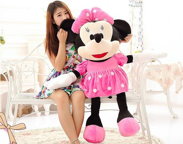 Plüschtier Minnie Maus grosse XXL Plüschfigur Disney aus Micky Maus Wunderhaus 130cm Geschenk Kind Kinder Mädchen Pink Rosa Geburtstag