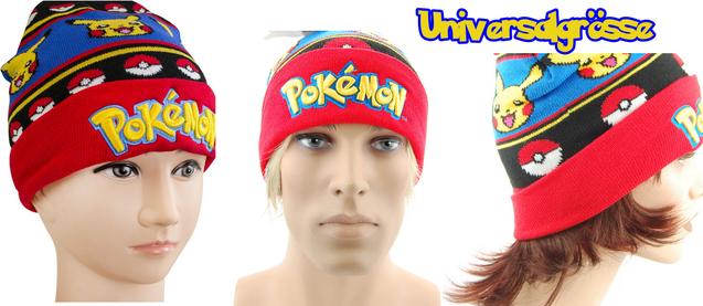 Pokemon Pokémon Pikachu Beanie Cap Mütze Kappe Winter Fan für Jung und Alt geeignet