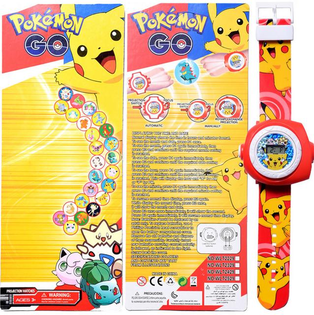 Pokémon Go Pikachu Projektor Armband Uhr Uhr Armbanduhr Geschenk Fan Kind Kinder Pokemon