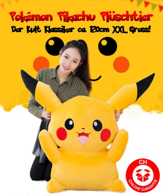 Pokémon Pikachu Plüsch Plüschtier Pokemon 120cm XXL Gross Geschenk Kind Frau