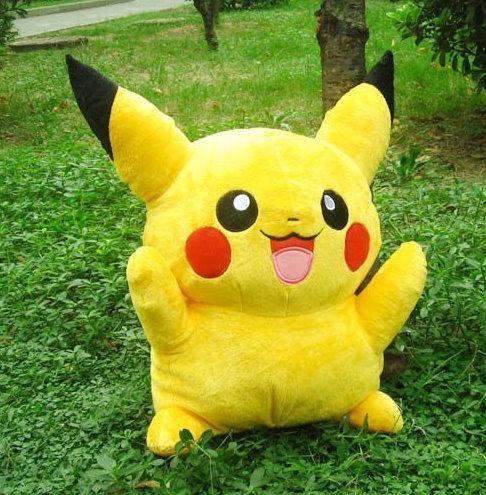 Pokémon Pikachu Plüsch Plüschtier Kuscheltier Pokemon ca. 80cm Geschenk Kind Kinder Frau Freundin Fan Fanartikel TV Serie Videospiel Kino