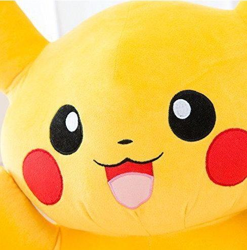Pokémon Pikachu Plüsch Plüschtier Kuscheltier XL 80cm Geschenk Kinder Fanartikel Geschenk Kind Kinder Kinderzimmer Fan TV Serie Kino