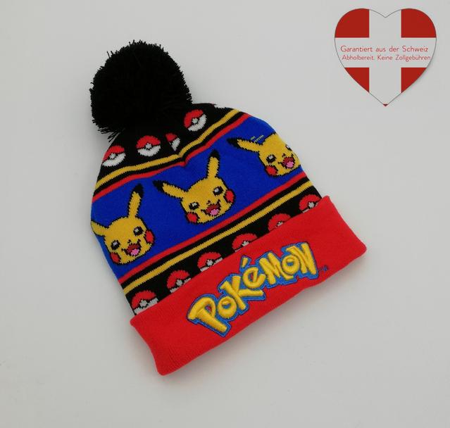 Pokémon Pokemon Go Winter Strickmütze Beanie Mütze Kind Kinder Fan