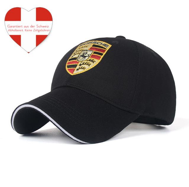 Porsche Cap Kappe Mütze Baseball Baseballcap Fan Schwarz oder Rot Logo