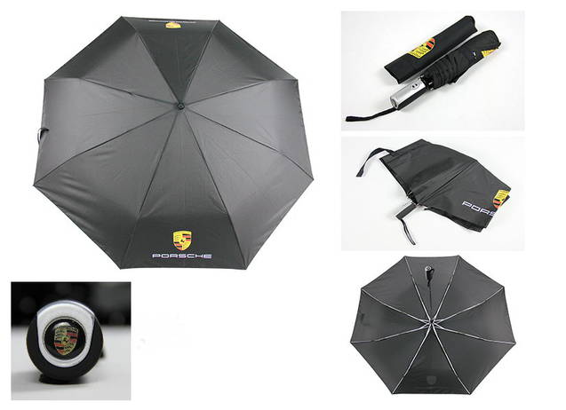 Porsche Regenschirm Fan Outdoor Gebrauchsgegenstand Schwarz Schweiz