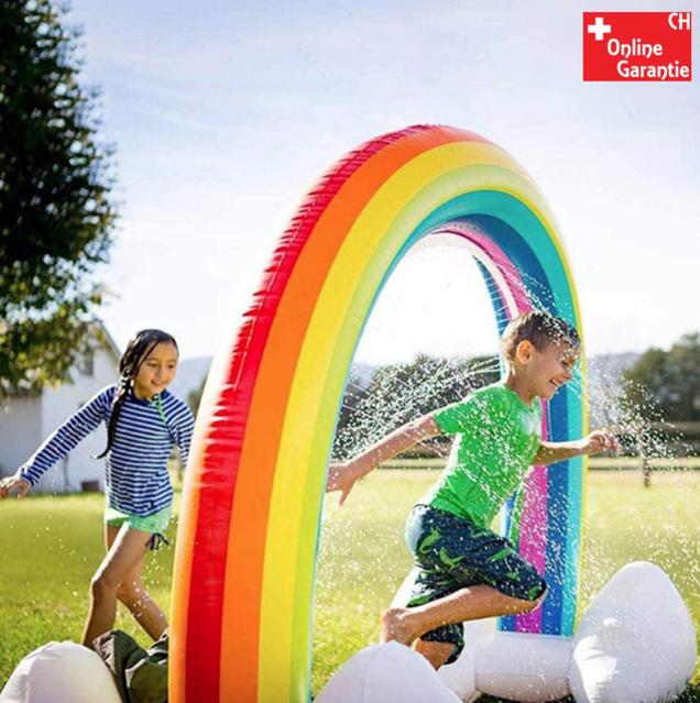 Regenbogen Sprinkler Wasser Aufblasbarer Wolken Bogen Sommer Garten Zuhause Haus Badi Pool Spielzeug Kinder