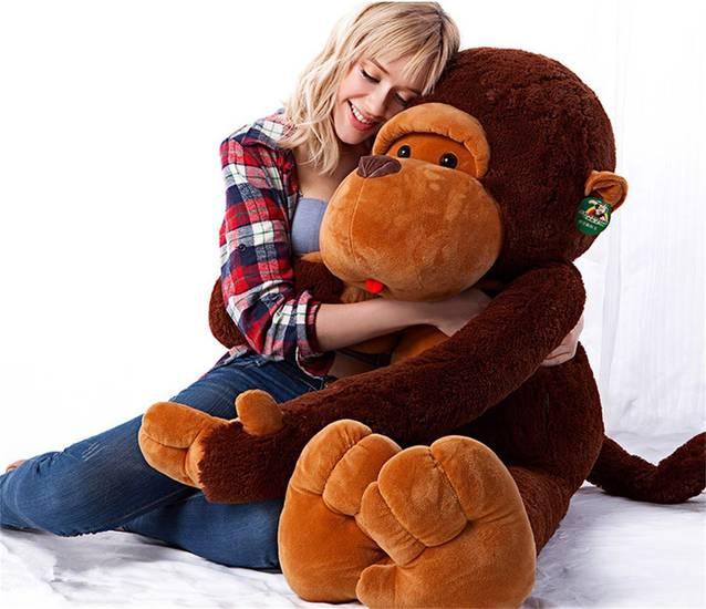 Riesen Mega Grosser XXL Plüsch Affe Monkey 130cm Geschenk Hit Neuheit