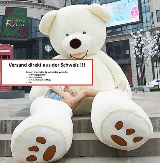 Riesen Mega XXL Plüschbär Plüschteddy Plüsch Bär Teddy Teddybär Weiss Eisbär Eis Weissbär Kuschel Plüschtier XXXL 260cm Geschenk