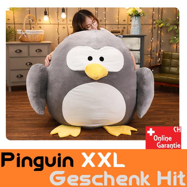 Riesen Pinguin Plüsch XXL grosses Kuscheltier Plüschtier Geschenk Kind Kinder Kinderzimmer Frau Freundin Süss