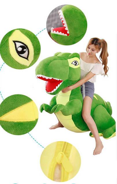 Riesen Plüsch Dinosaurier Plüschtier T-Rex XXL Plüschdino Dino 210cm 2.1m Geschenk Kind Kinder