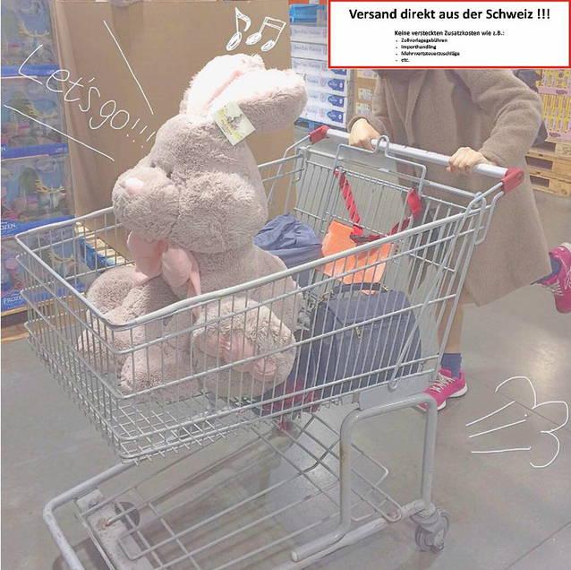 Riesen Plüsch Hase Kaninchen Plüschhase XXL ca. 120cm - tolles Geschenk für Kinder