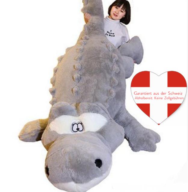 Riesen Plüsch Krokodil Alligator 200cm Plüschkrokodil Kuschel Bett Plüschtier Geschenk Kinder Hit