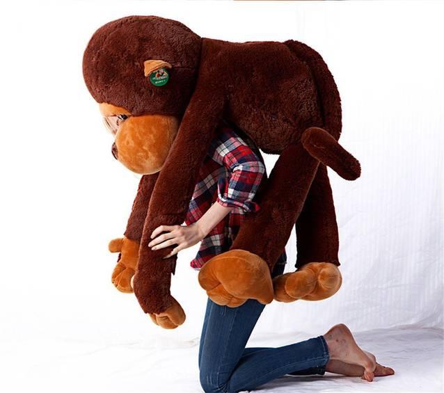 Riesen Plüschtier Aff ca. 130cm XXL Monkey Schlenkeraffe Kuscheltier Aff Plüsch Plüschaffe