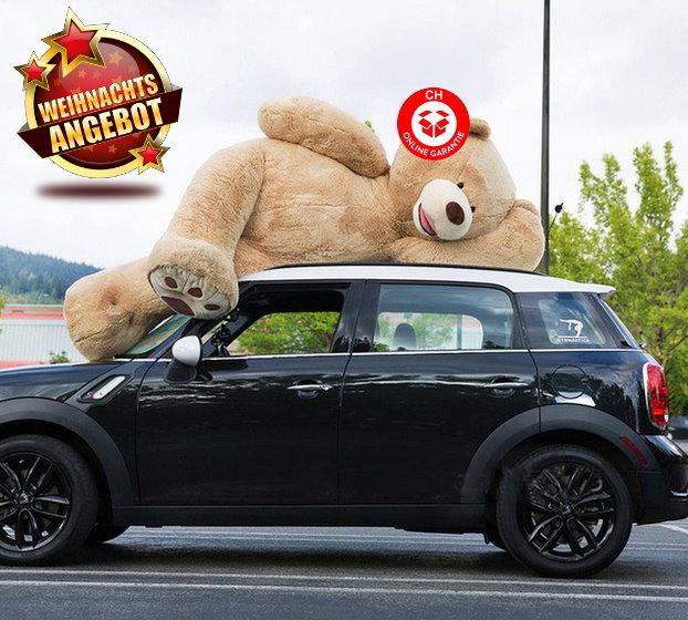 Riesen Teddy Teddybär Plüschbär Geschenk Der Grösse Teddybär auf dem Markt - 260cm XXXL Plüsch Bär Weihnachten