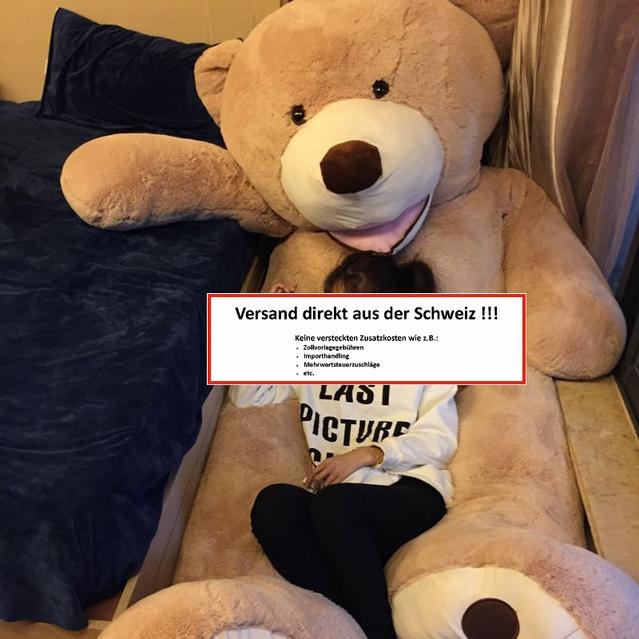 Riesen Teddy Teddybär Plüschbär XXL 2.6m 260cm Geschenk Frau Kind Kinder Kids Plüschtier Superbär XXXL