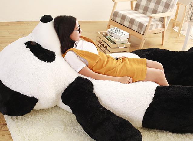 Riesen Teddybär Panda Pandabär Plüschbär Schleife Kuschelbär XXL 260cm Gross Plüschbär Kuscheltier samtig weich Geschenk XXXL Weihnachten Schweiz