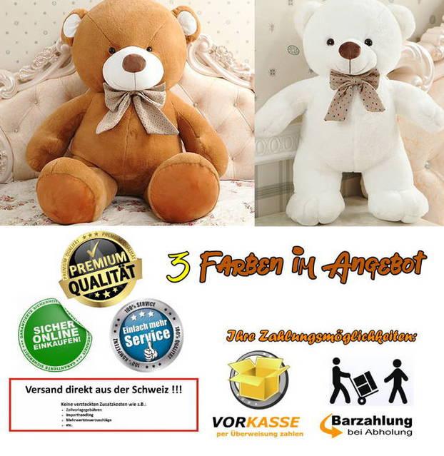 Riesen Teddybär Plüschbär Kuscheltier 3 Farben 210cm gross Geschenk Kind Kinder Frau Freundin