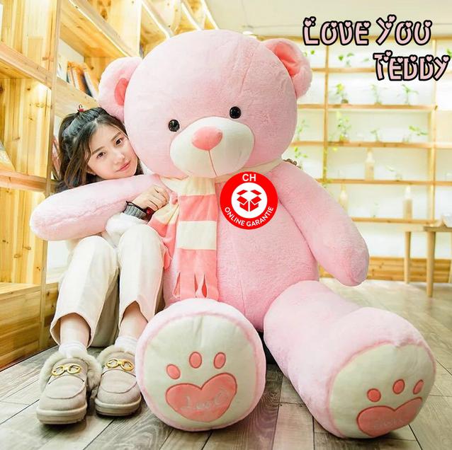 Riesen Teddybär Plüschbär Tedi Teddy Bär Plüschtier XXL Pink Rosa Liebe dich Love Love You Weihnachtsgeschenk Geburtstag Valentinstag Geschenk Frau Freundin Girl Mädchen
