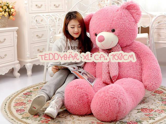 Riesen XL 160cm Plüsch Bär Teddy Pink Kuschelbär Kuscheltier Plüschbär Geschenk Kind Frau