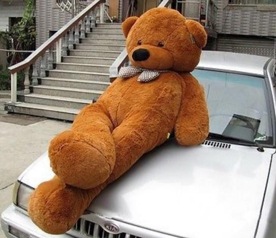 Riesen XXL Teddybär Teddy Bär Plüsch braun 230cm Plüsch Kuschelbär Tedi Kuscheltier Geschenk Kind Kinder Weihnachten Schweiz Sofort Lieferbar