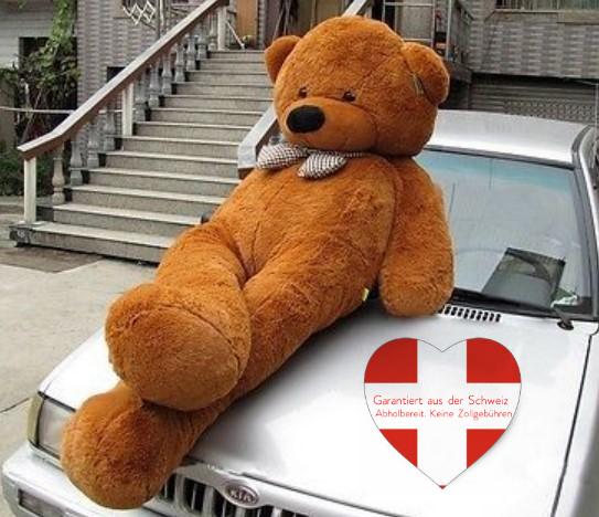 Riesen XXL Teddybär braun 230cm 2.3 Meter XXL Plüsch Kuschelbär Plüschbär Weihnachten Geschenk keine 0815 Ware von der Stange