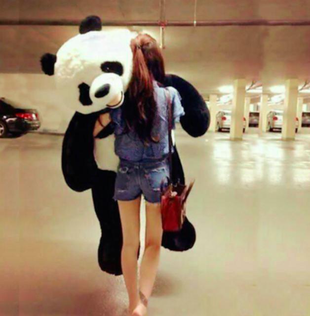 Riesengrosser Plüsch Panda Bär Pandabär Teddy Geschenk Weihnachten Geburtstag