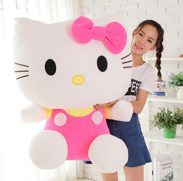 Riesengrosses ca. 100cm Hello Kitty XXL Plüschtier Plüsch Geschenk Neu Pink Rosa Mädchen Süss Gross Hellokitty