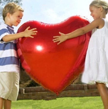 Riesiger Luftballon in Herzform für wunderschöne Fotos voller Zärtlichkeit und Liebe!