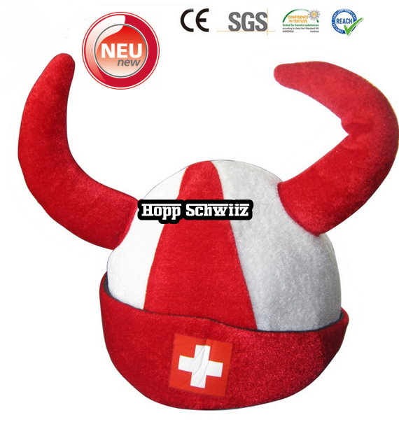 Schweiz CH Swiss Switzerland Fan Hörner Fussball Tennis Hockey WM EM Party