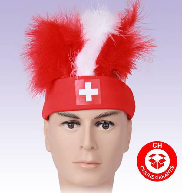 Schweizer Schweiz Fussball WM in Russland EM Hut Fan Mütze Stirnband Cap Hopp Schwiiz Neu