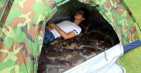 Selbstaufblasbare Militär Luftmatratze Schlafmatte Schlafsack