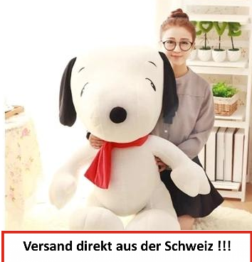 Snoopy Riesig Weich XXL Plüschtier Kult Serie TV Kino eanuts Charlie Brown TV 100cm 1m Geschenk