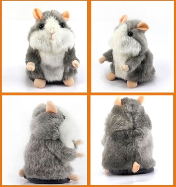 Sprechende Hamster Spielzeug Kind Kinder Talking Süss Herzig Geschenk Kind Kinder Spass