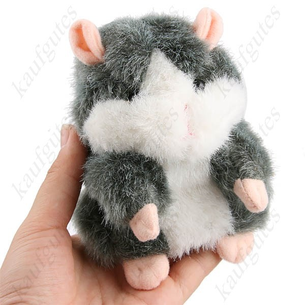Sprechender Hamster Spielzeug Kind Kinder Lustig spricht Talking Schweiz Braun oder Grau