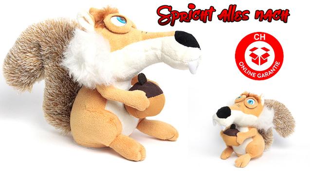 Sprechender Ice Age Scrat Plüsch Eichhörnchen Spielzeug Kino Film Geschenk Kinder
