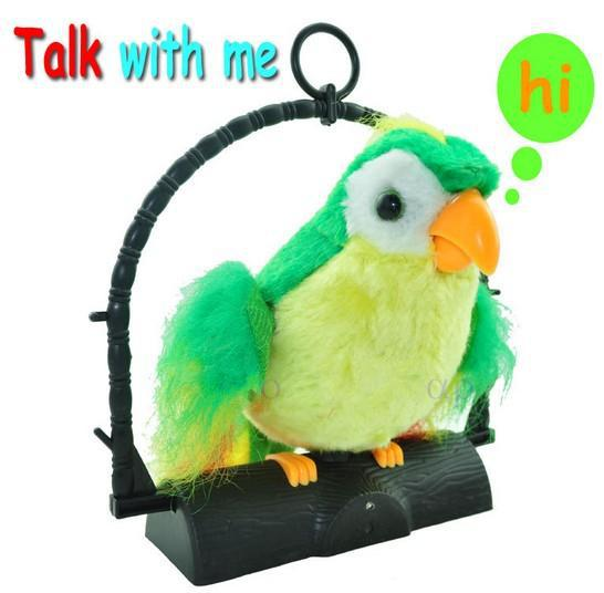 Sprechender plüsch papagei kinder spielzeug
