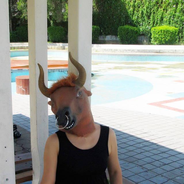 Stier Maske Kuh Kuhmaske Latex Tiermaske Fasnacht Stiermaske
