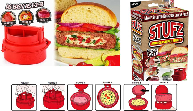 Stufz TV HIT Gefüllte Hamburger Frikadellen Burger Presse aus den USA Schweiz