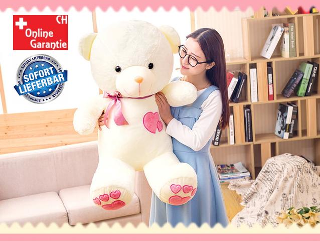 Teddy Herz Liebe Love Plüschbär Geschenk für Frau verliebte Geliebte Valentinstag Geburtstag Plüsch Bär Geschenkidee