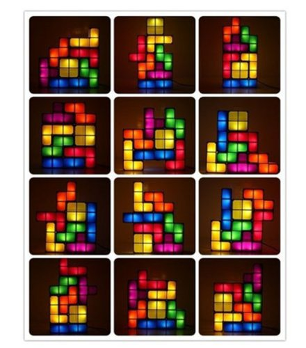 Tetris Lampe Tetrislampe Klassiker Tischlampe Tischleuchte Gadget Geschenk Hit Videospiel Schweiz